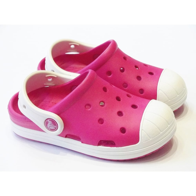 96319f0ef Crocs 202282 Bump It 6mi Candy Pink oyster Kids Clogs Various Sizes ...