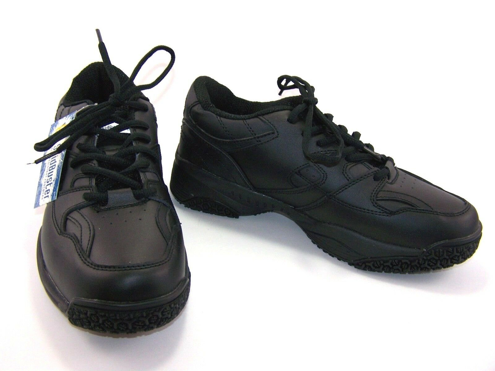 Skidbuster Mens Oxford Soft Toe Slip Resistant Black Size 9 Lace Up Low Top