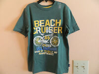 Gap Kids Boy Green T-shirt W/beach Cruiser...& Bike Graphics; Size S