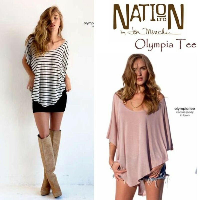 NWT Nation LTD Olympia Tee Top in Dusty lila lila  Boho