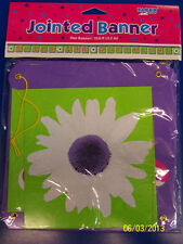 Shopping Spree Flower Girls 13th Birthday Party Decoration Jointed Letter Banner
