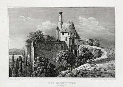Die Altenburg Bei Bamberg. Originaler Stahlstich Um 1850