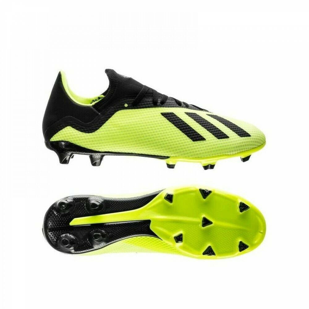 shoes DA CALCIO ADIDAS men X 18.3 FG DB2183 FIRM GROUND yellow black ORIGINALI