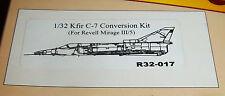 1:32 KFIR C-7 CONVERSION FOR REVELL MIRAGE III/5 CUSTOM AERONAUTICAL MINIATURES