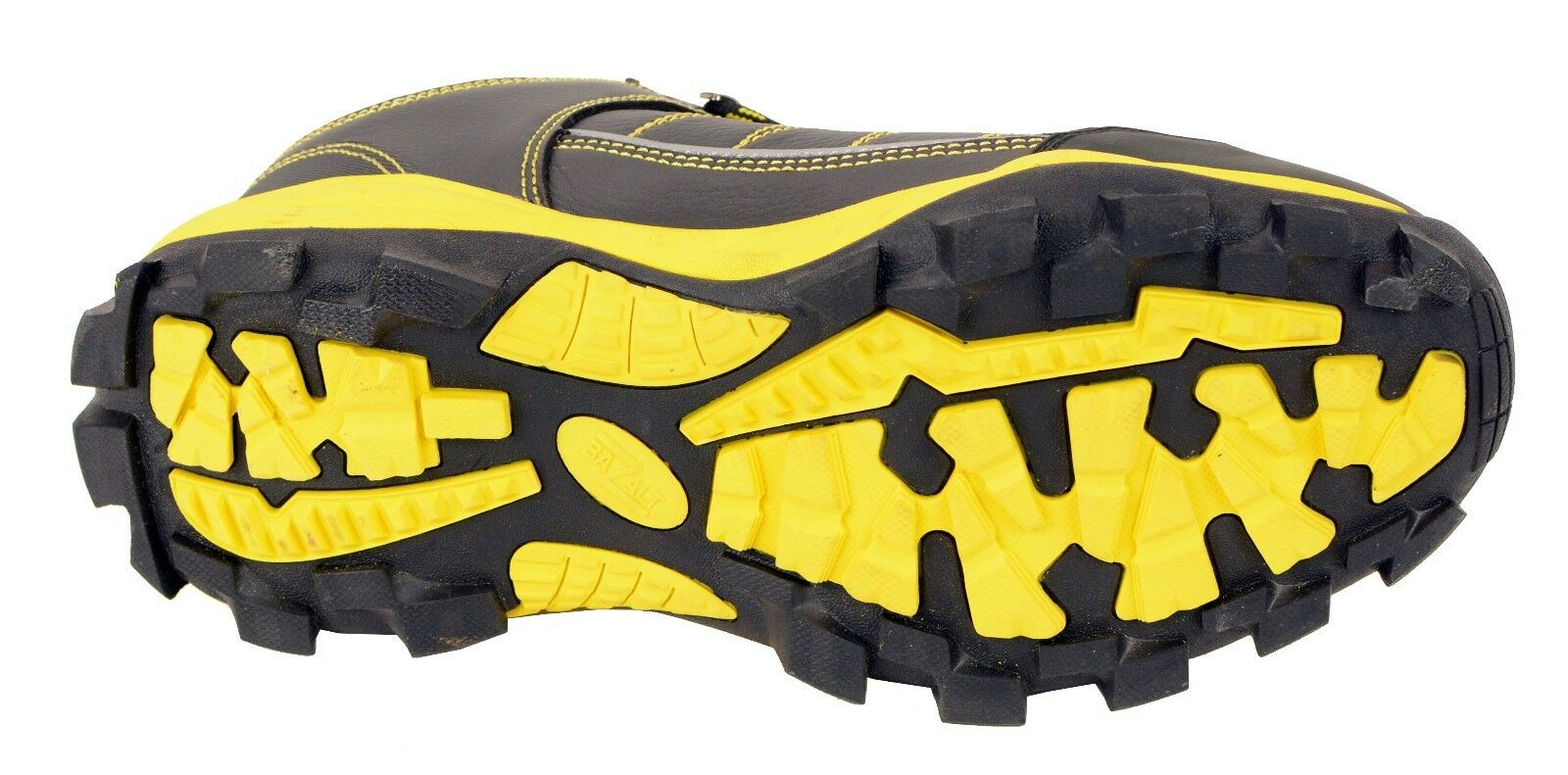 9640a6d5423 ... Men's Black Black Black & Yellow Water/Frost Proof Leather Shoe W/  Reflective Trim ...
