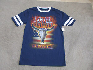 NEW-Lynyrd-Skynyrd-Made-In-America-Concert-Shirt-Adult-Small-Blue-Band-Tour-Mens