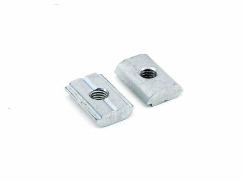 2x M6 Nutenstein 20mm Installation Hammermutter Nut 10 ALU-Profil-System-Mutter