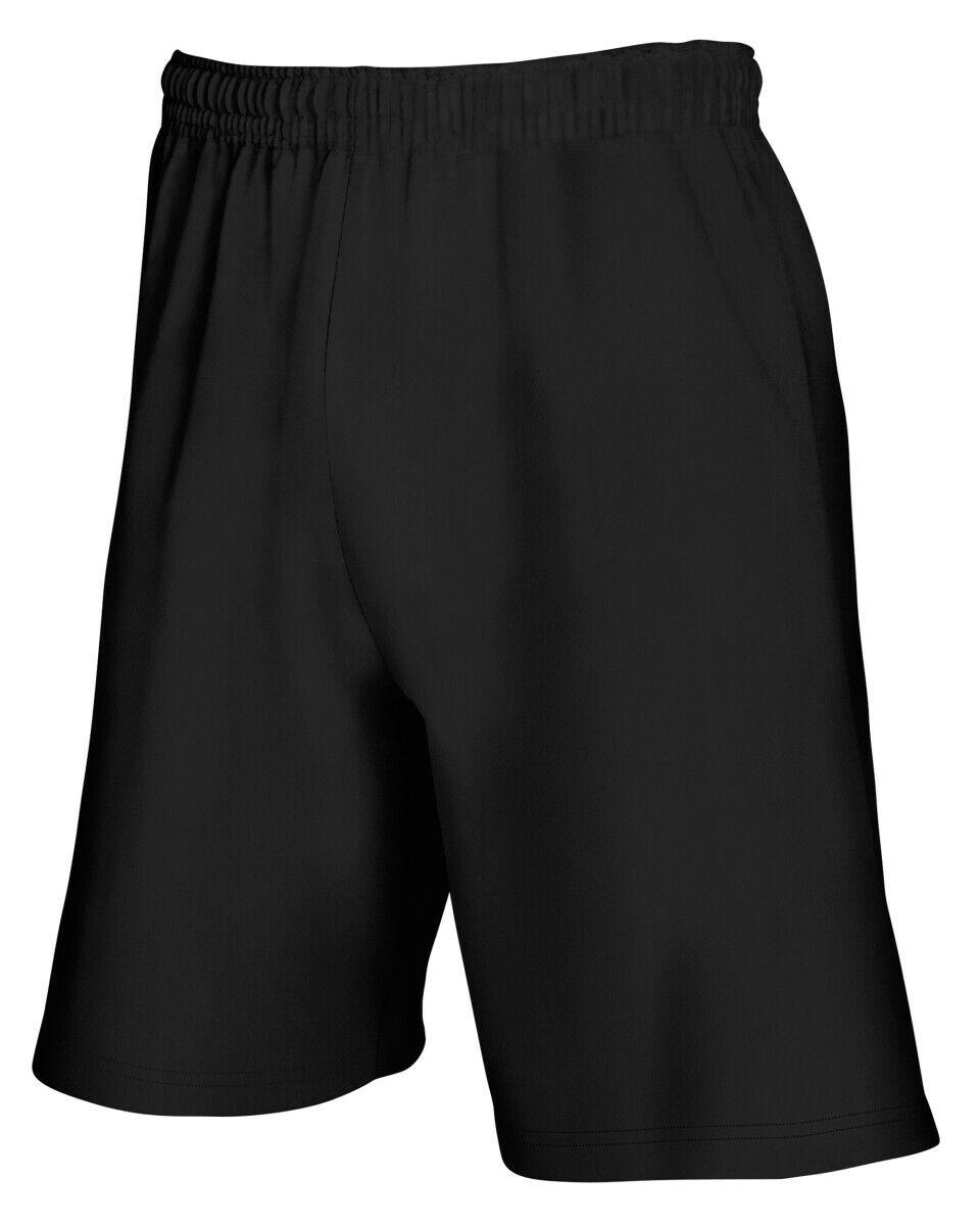 Pantaloncini da Uomo FRUIT OF THE LOOM Leggera in Pile Corto 3 colori Jersey Sport