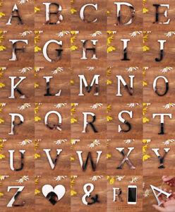 SPECCHIO-Parete-Adesivo-con-effetto-a-specchio-26-lettere-dell-039-alfabeto-Decor-acrilico-argento