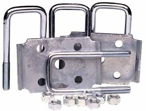"Marine Trailer GALVANIZED Axle Tie Plate Kit For 2"" Square Axle U BOLTS NUTS"