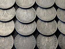 10 Reichspfennig 1940 - 1944. 20 original nazi German coins. EF. KM#101. WWII.