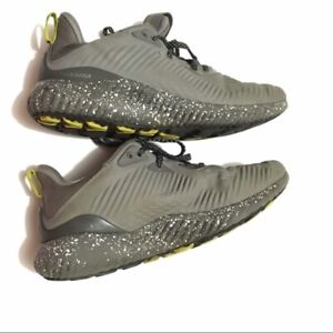 Adidas-Boys-Gray-Alphabounce-Lace-Up-Athletic-Sneakers-Size-US-4-5