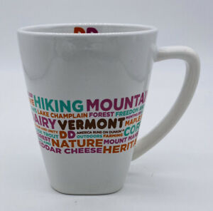 Dunkin' Donuts Vermont Destinations White Coffee Mug Cup 2016 Collectable