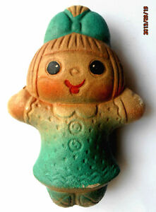 1960s USSR Russian Soviet SOUND Rubber Toy LITTLE GIRL