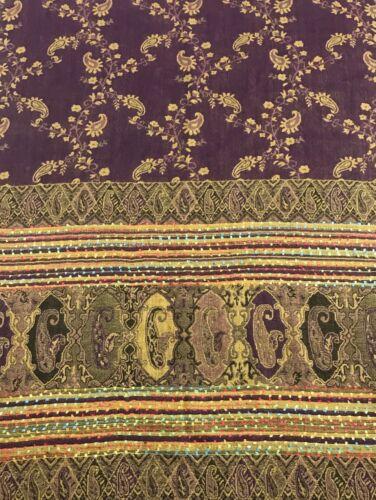 Diseño de la flor de color púrpura acuática Chal Bufanda Envolvente Estola Pashmina CJ Apparel ** nuevo **