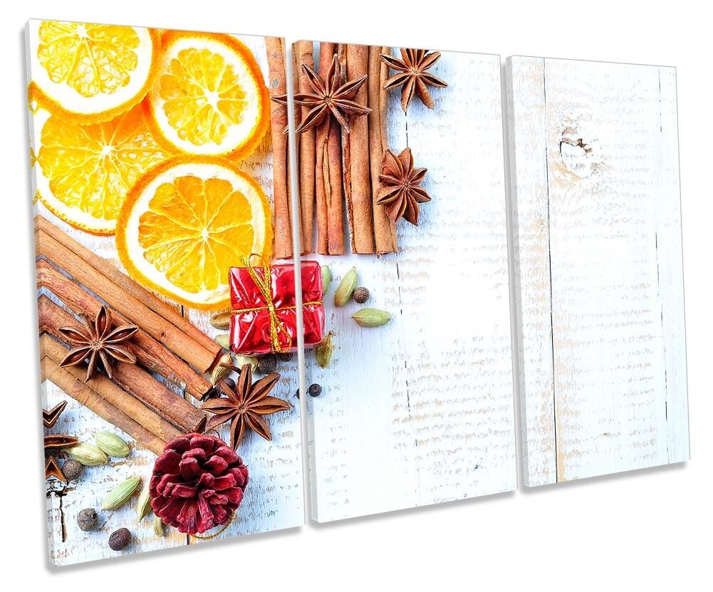 Mulled Wine Spices Herbs Picture TREBLE CANVAS WALL ART Print