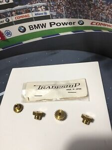 """1/24 SLOT CAR COX CLASSIC TRADESHIP 1/8"""" 20 TOOTH 48 PITCH PINION GEAR LOT OF 4!"""