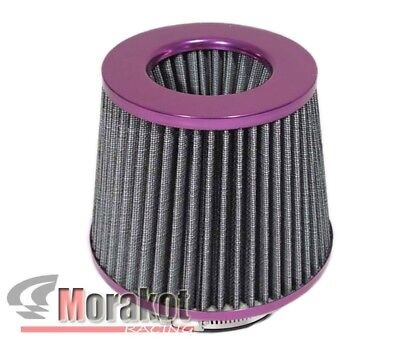 3-Inch Dry Cone-Style Performance Air Filter Cold and Short Ram Intakes PURPLE