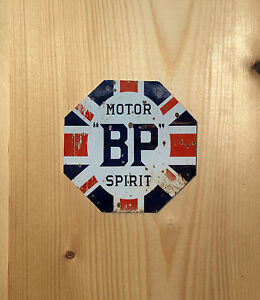 Bp-Motor-Oil-Octagon-Vintage-Retro-ENAMEL-METAL-TIN-SIGN-WALL-PLAQUE