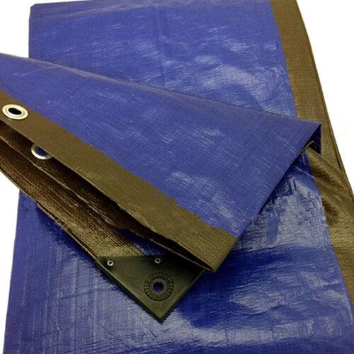 5.0M X 9.0M BROWN blueE HEAVY DUTY TARPAULIN SHEET TARP COVER WITH EYELETS
