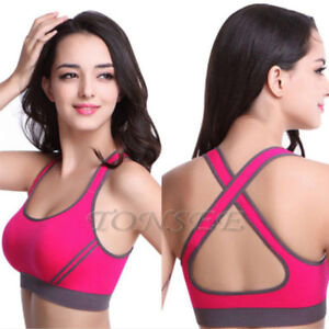 769a6ca16d Image is loading Women-Yoga-Fitness-Stretch-Workout-Tank-Top-Seamless-