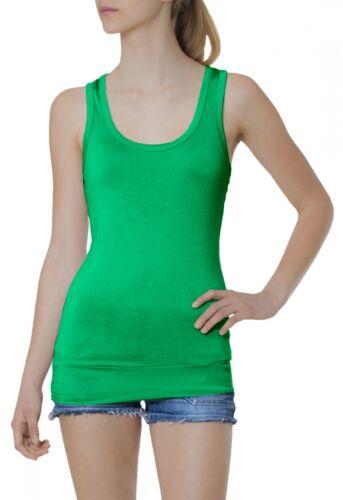 CASPAR Damen Top Longtop Tanktop Longshirt Shirt Oberteil Stretch uni einfarbig