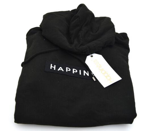HAPPINESS UOMO FELPA CON CAPPUCCIO CASUAL INVERNALE ART ESSENTIALS