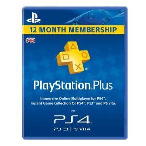 12 Month Playstation PS Plus(Ps4-Ps3-Vita) (NO CODE)