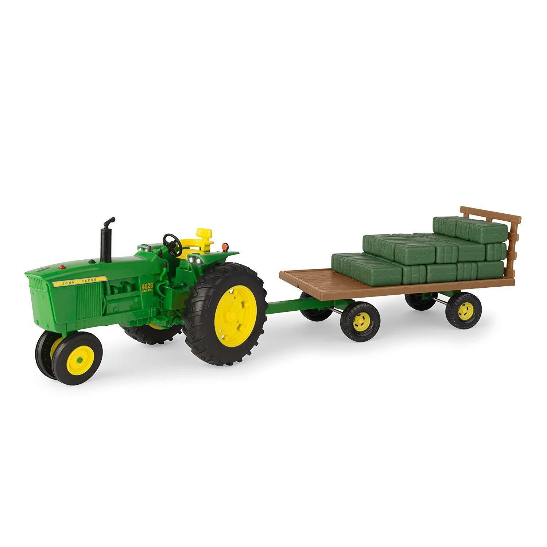 NEW John Deere Big Farm 4020 Tractor w Hay Wagon & Bales, 1 16, LP68579