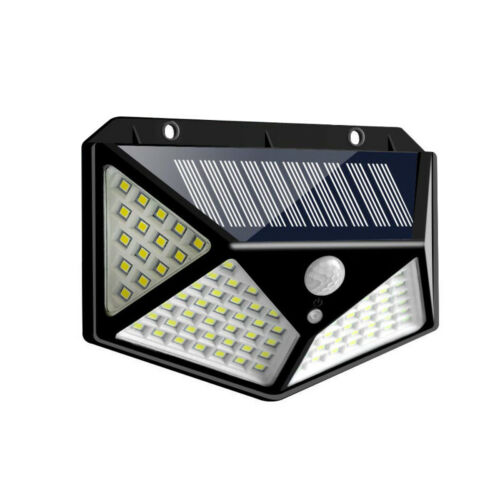 100LED Solar Power PIR Motion Sensor Wall Lights Outdoor Garden Lamp Waterproof