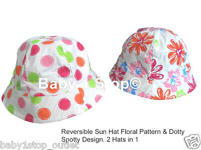 6-12 Months Girls Cute Floral Floppy Hat
