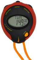 Nike Minute Man Black Sport Red Black Buttons Training Sports Stopwatch