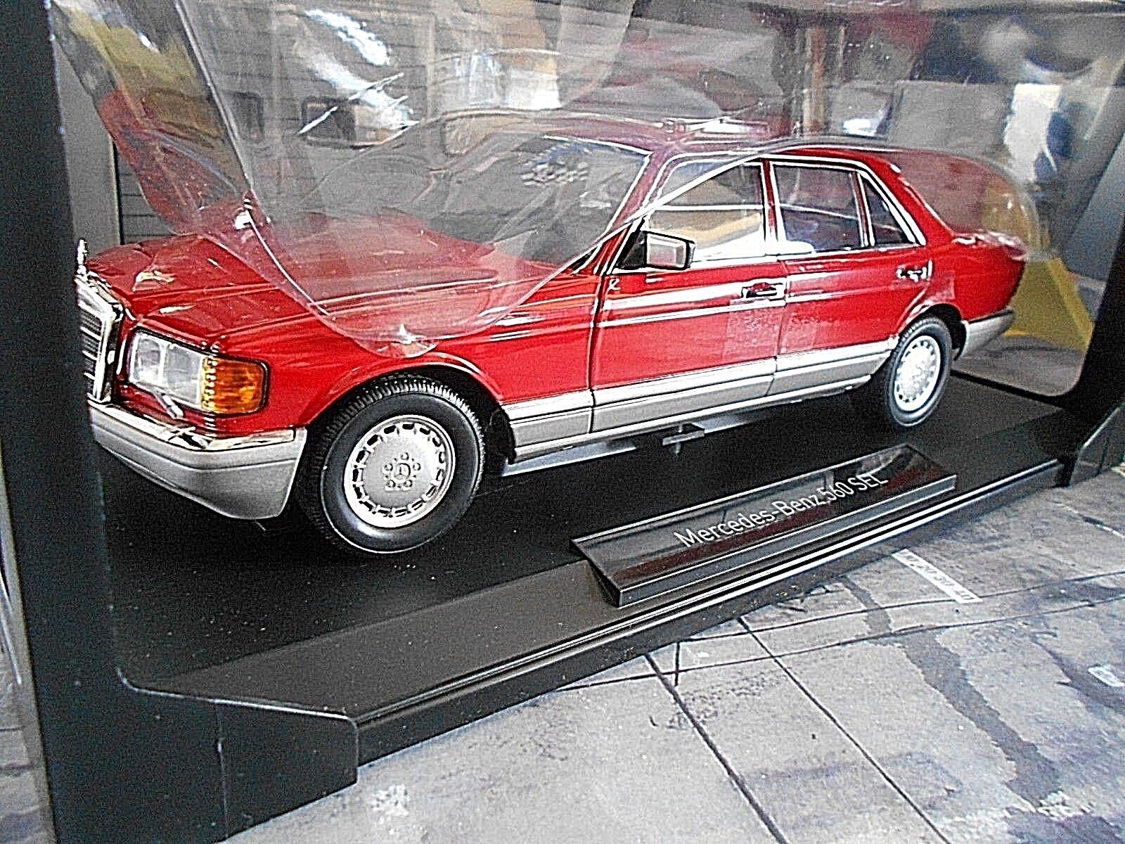 MERCEDES BENZ S-Klasse W126 rot rot 560 SEL 1991 Norev limited 1 18 RAR