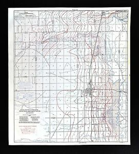 1940 Artesia Dexter New Mexico Map Water Table Depths