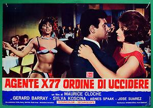 T50 Fotobusta Agent X77 Orden Von zu Töten Gerard Barray Sylva Koscina Cloche 2