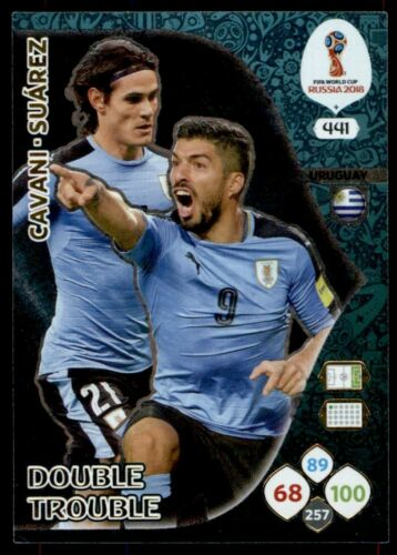 Panini WORLD CUP 2018 ADRENALYN XL-Cavani//Suarez Uruguay Double Trouble #441