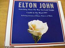 ELTON JOHN SOMETHING ABOUT THE WAY YOU LOOK TONIGHT/CANDLE IN THE WIND CD SINGLE