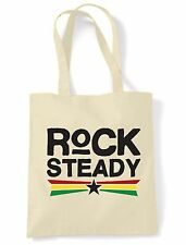 ROCK STEADY SHOULDER  SHOPPING BAG - Reggae Rastafarian Bob Marley Rasta