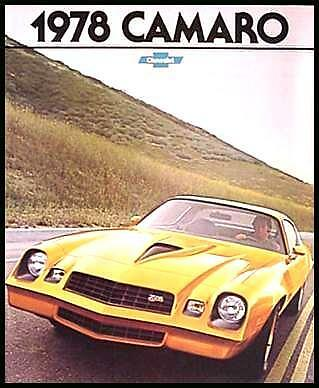 1978 Camaro Brochure Sport RS LT Z28 Original MINT 78