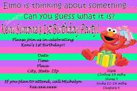 Customizable Elmo Birthday Invitations- I Create ... You Print