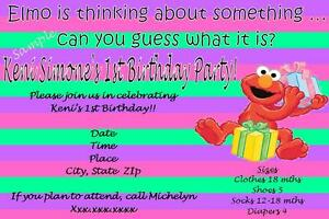 Image Is Loading Customizable Elmo Birthday Invitations I CREATE YOU PRINT