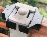 """Fencing Rattling Fence Panel Wind Gale Hurricane Blown Out Fit 5"""" Concrete Post"""