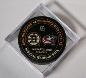 Boston-Bruins-Columbus-Blue-Jackets-Warm-Up-Puck-NHL-Hockey-January-2-2020