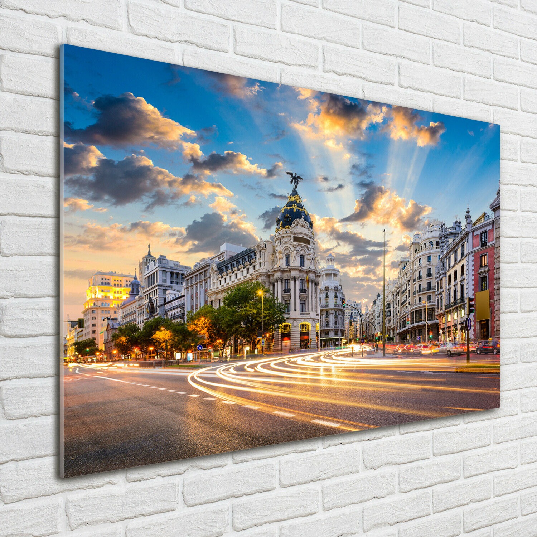 Wandbild aus Plexiglas® Druck auf Acryl 100x70 Madrid Spanien