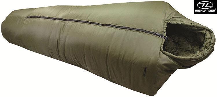Highlander Army Military 4 Season Camping Travel Mummy Sleeping Bag Soft Shell