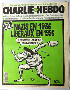 "Charlie Hebdo N°214 Du 24/07/1996: ""j.o. Nazis En 36, Libéraux En 1996"" Ooqdzax3-07163829-450143451"