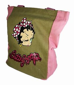 Designer-Betty-Boop-sous-licence-Sac-bandouliere-toile-reutilisable