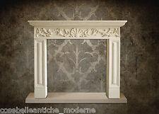 Camino Stile Impero Pietra Empire Fireplace Leccese Stone CLASSIC HOME IN DESIGN
