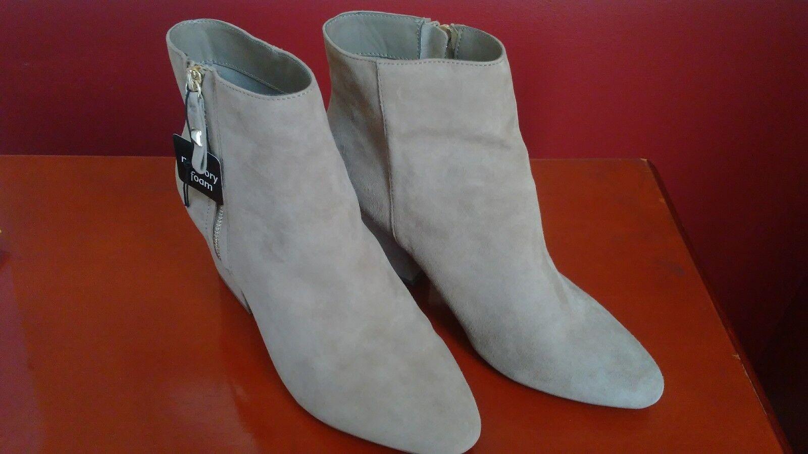 Liz Claiborne Genuine Suede Ankle Stiefel, Größe 11, Taupe, Memory Foam, Brand NEU
