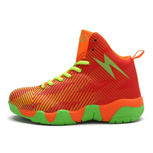 Kids Gym Basketball Shoes High Top Lace Up Road Running Sports Shoes Sneakers UK